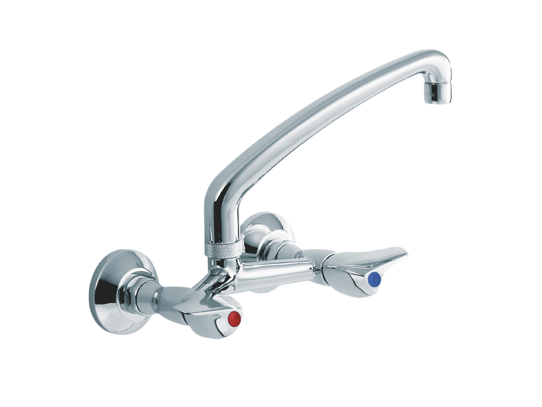 Wall-mounted kitchen mixer, spout above 1002.--.20