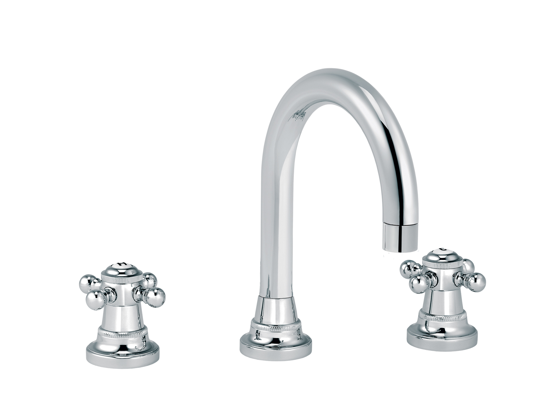 3-hole washbasin mixer, with waste, round spout 1921.--.46