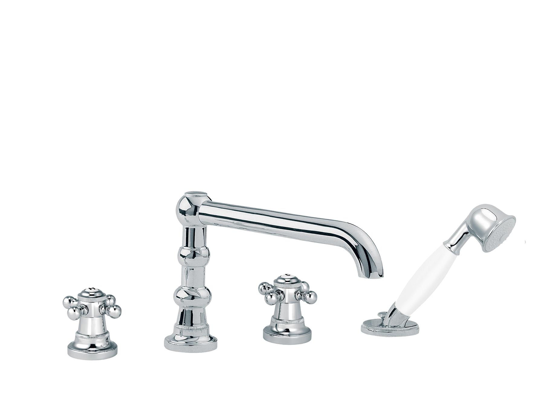 robinet robinetterie batterie bain douche 4 trous avec inverseur et douchette. Black Bedroom Furniture Sets. Home Design Ideas