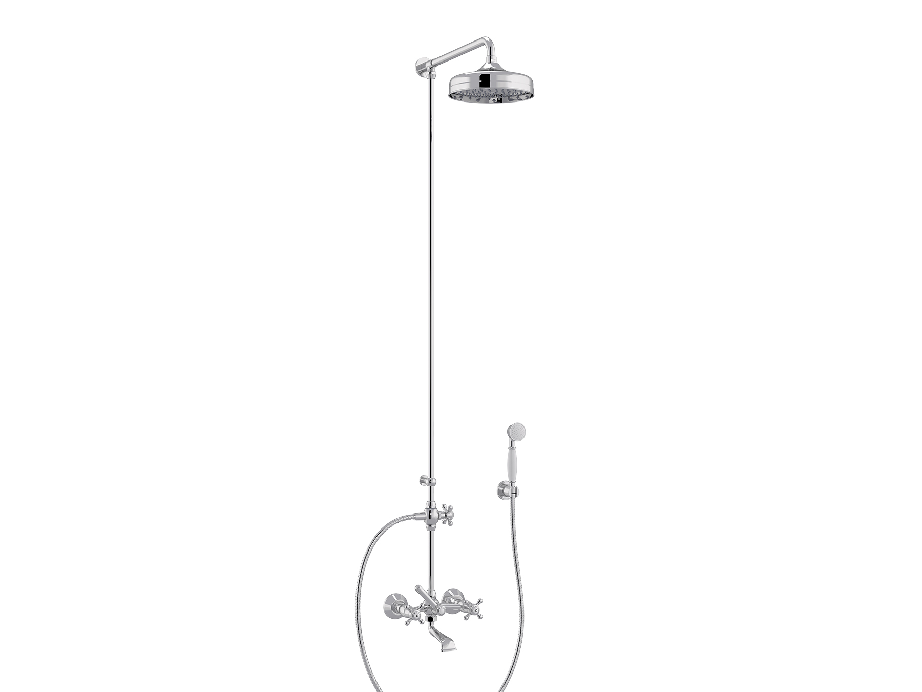 Set bath-shower mixer, head Ø200mm 1921.--.75