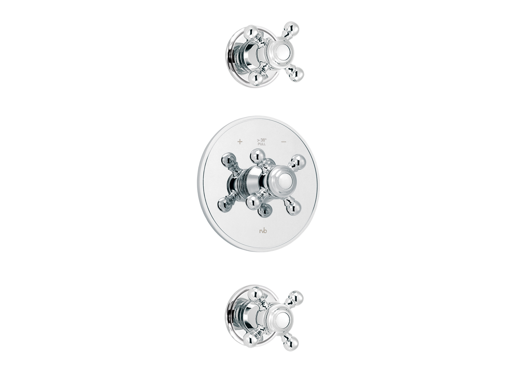 Concealed shower thermostat with 2 valves 1921.--.94