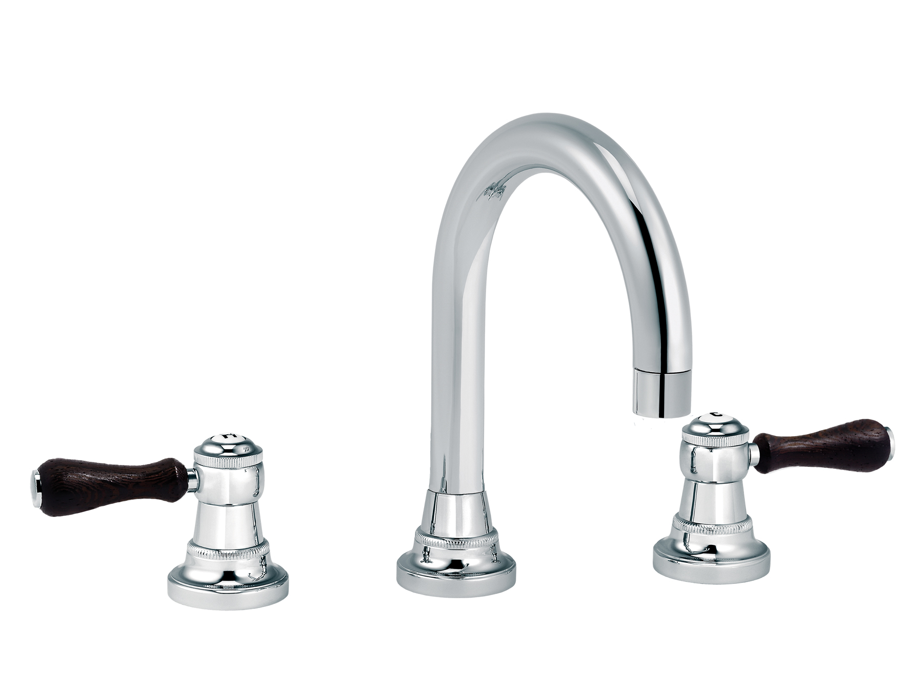 3-hole washbasin mixer, with waste, round spout 1935.--.46-xx