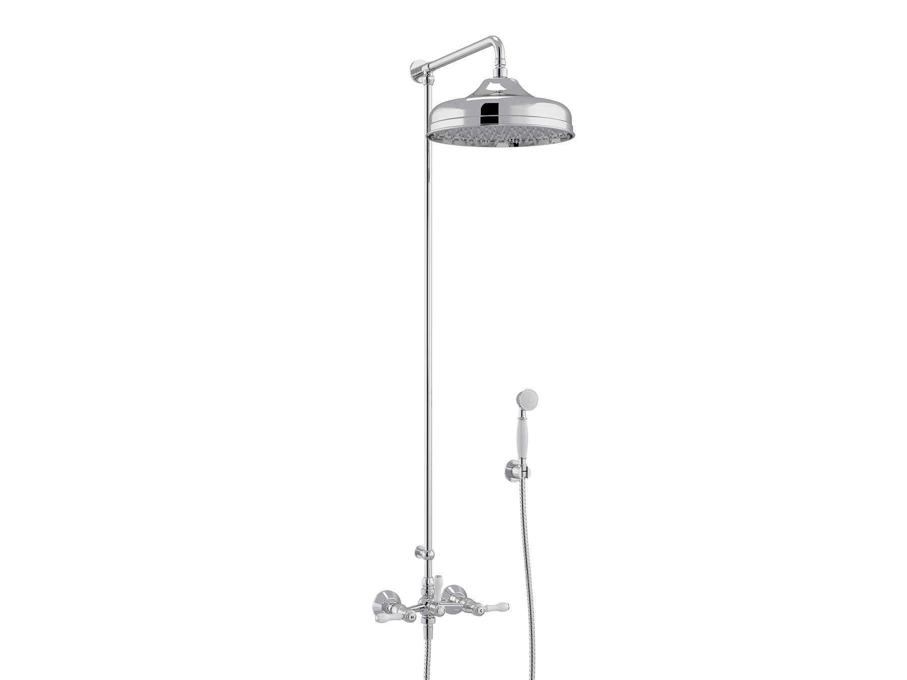 Set shower mixer, Ø300mm and handshower 1935.--.66