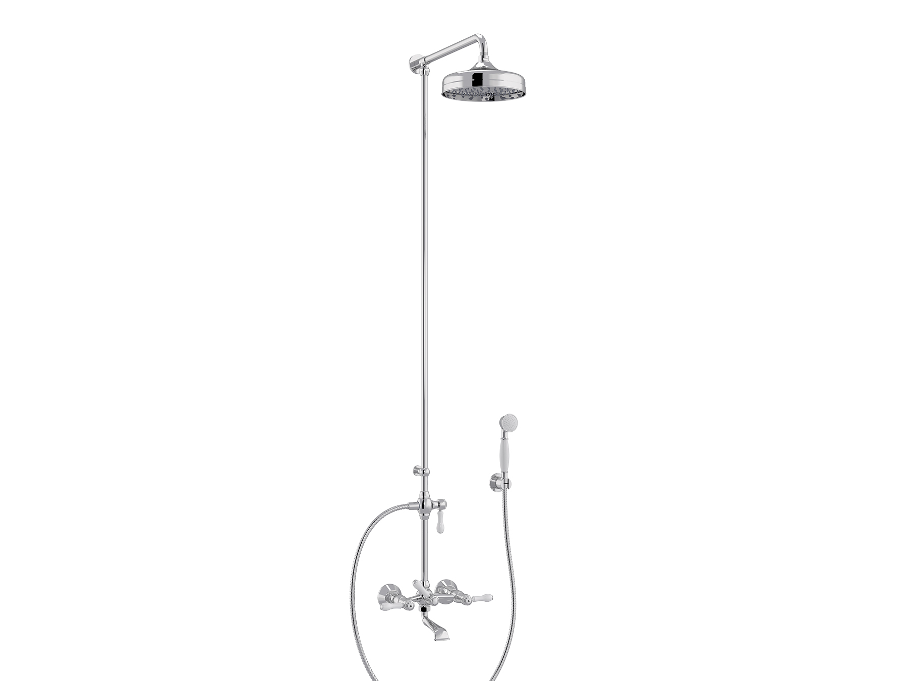 Set bath-shower mixer, head Ø200mm 1935.--.75-xx