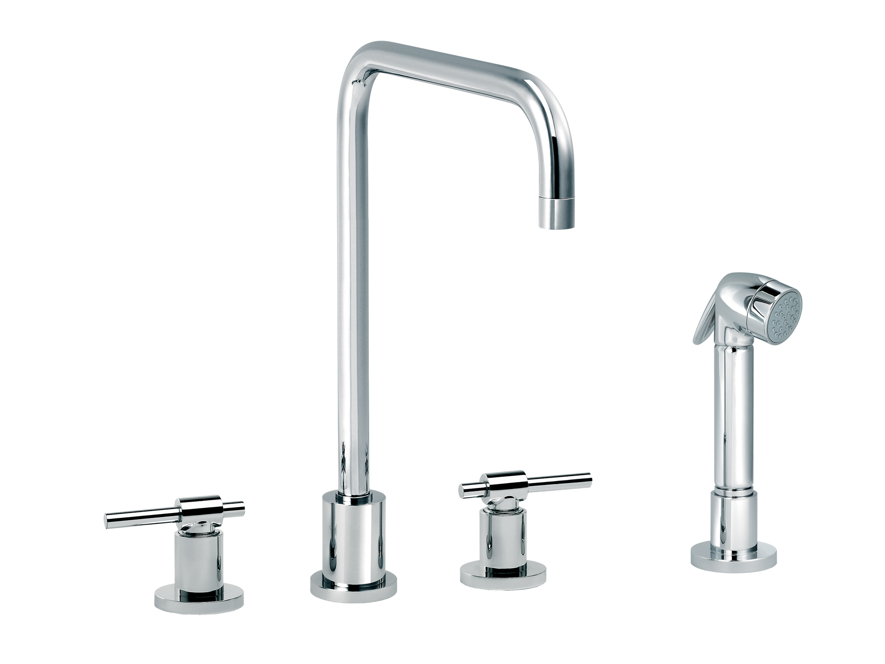 3-hole kitchen mixer, handshower, spout in U 4027.--.29