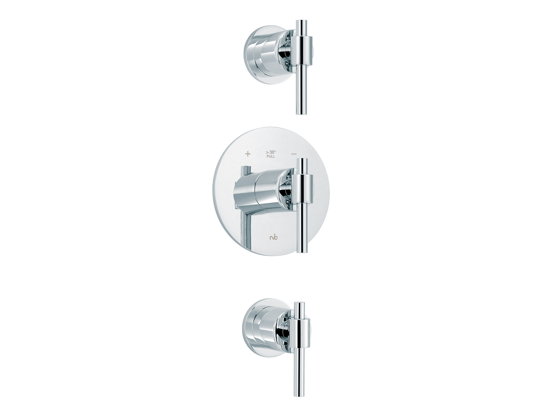 Concealed shower thermostat with 2 valves 4027.--.94