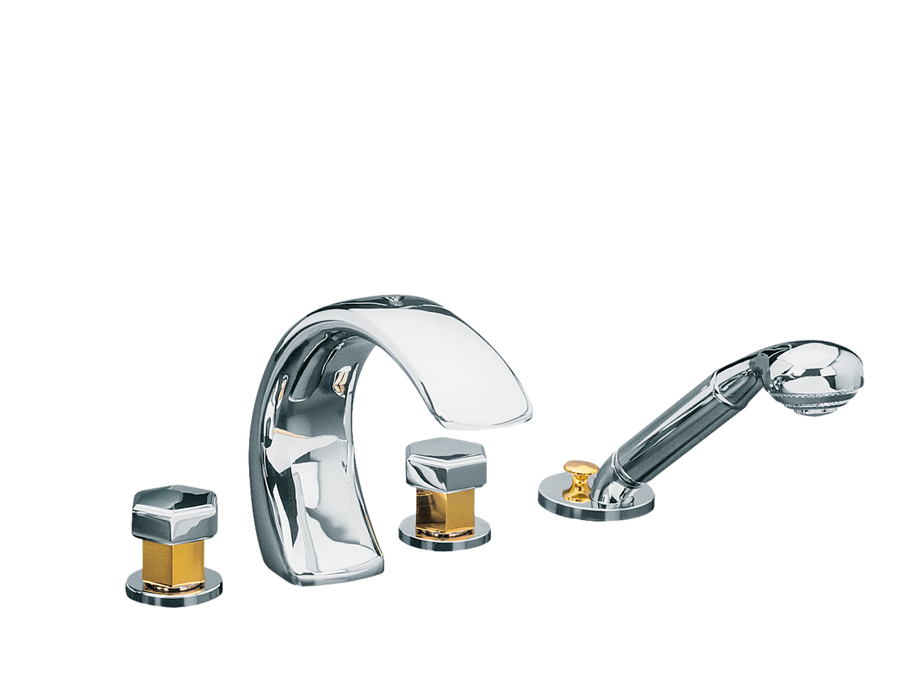 rvb.be Faucet / Tap : 4-hole bath and shower mixer, with diverter ...