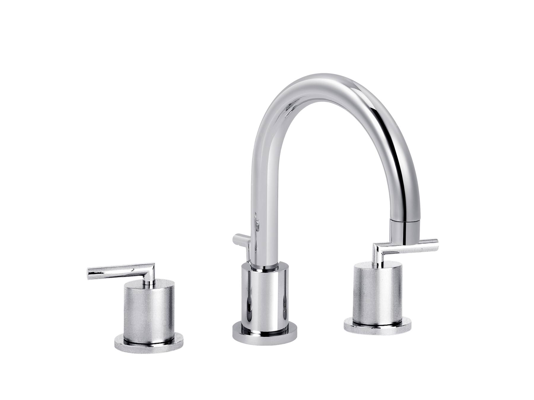 3-hole washbasin mixer, with waste, great spout 4031.--.49