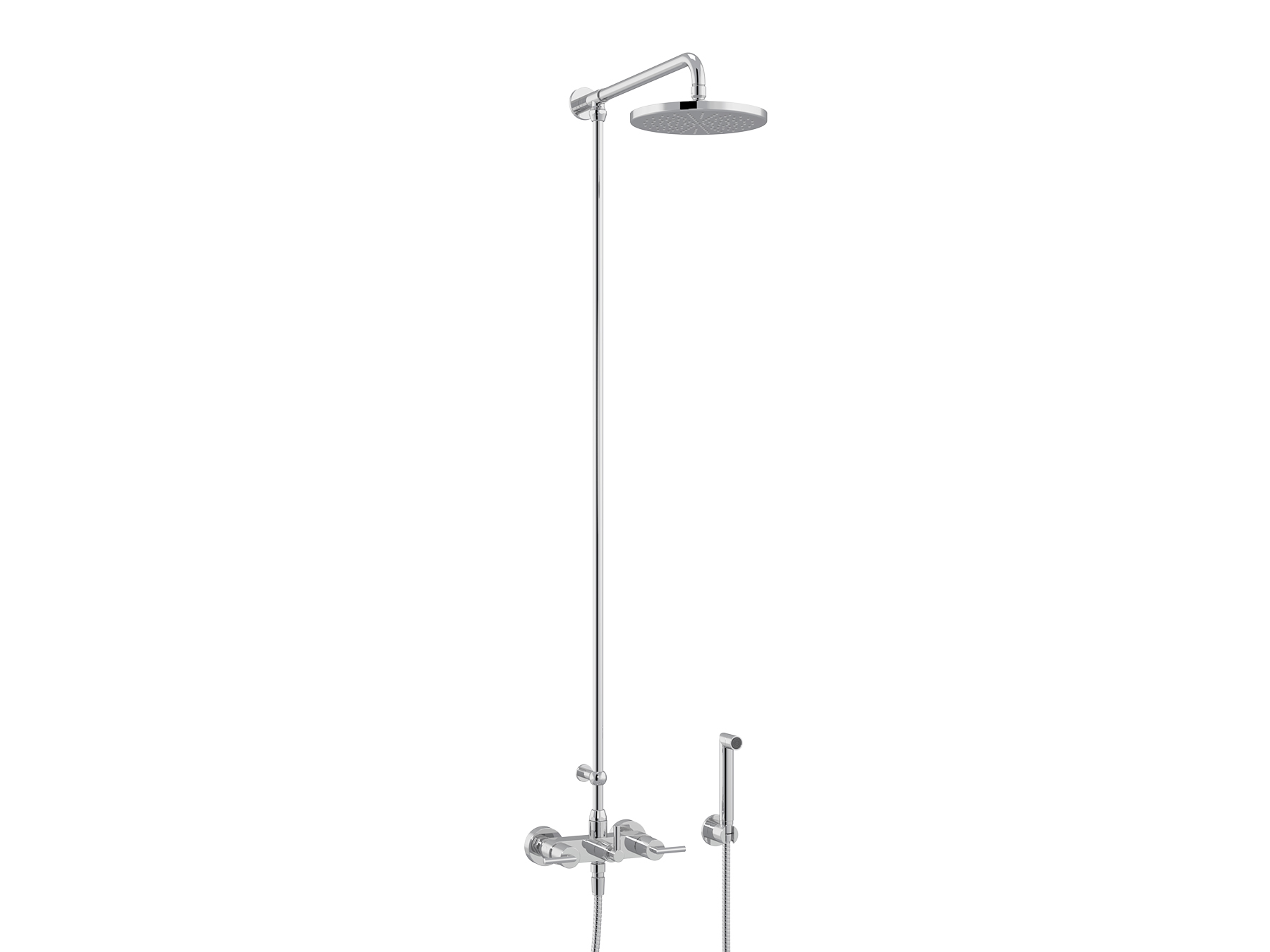 Set shower mixer, Ø200mm and handshower 4031.--.65