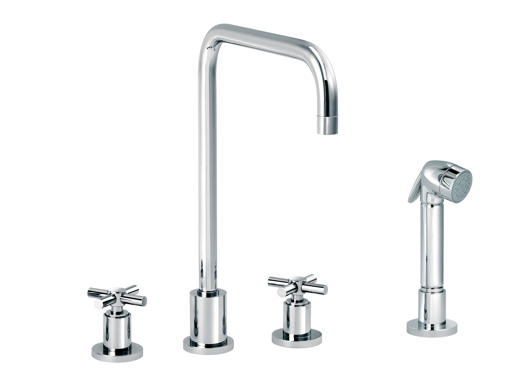 3-hole kitchen mixer, handshower, spout in U 4032.--.29