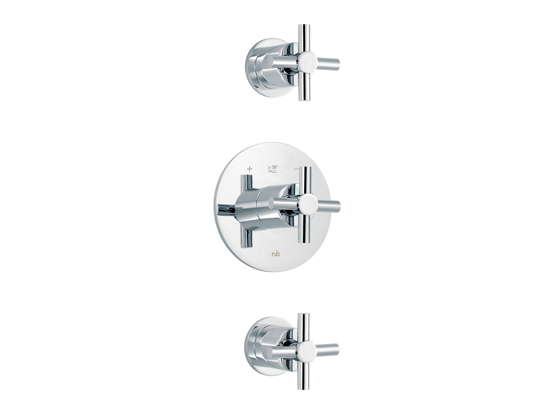 Concealed shower thermostat with 2 valves 4032.--.94