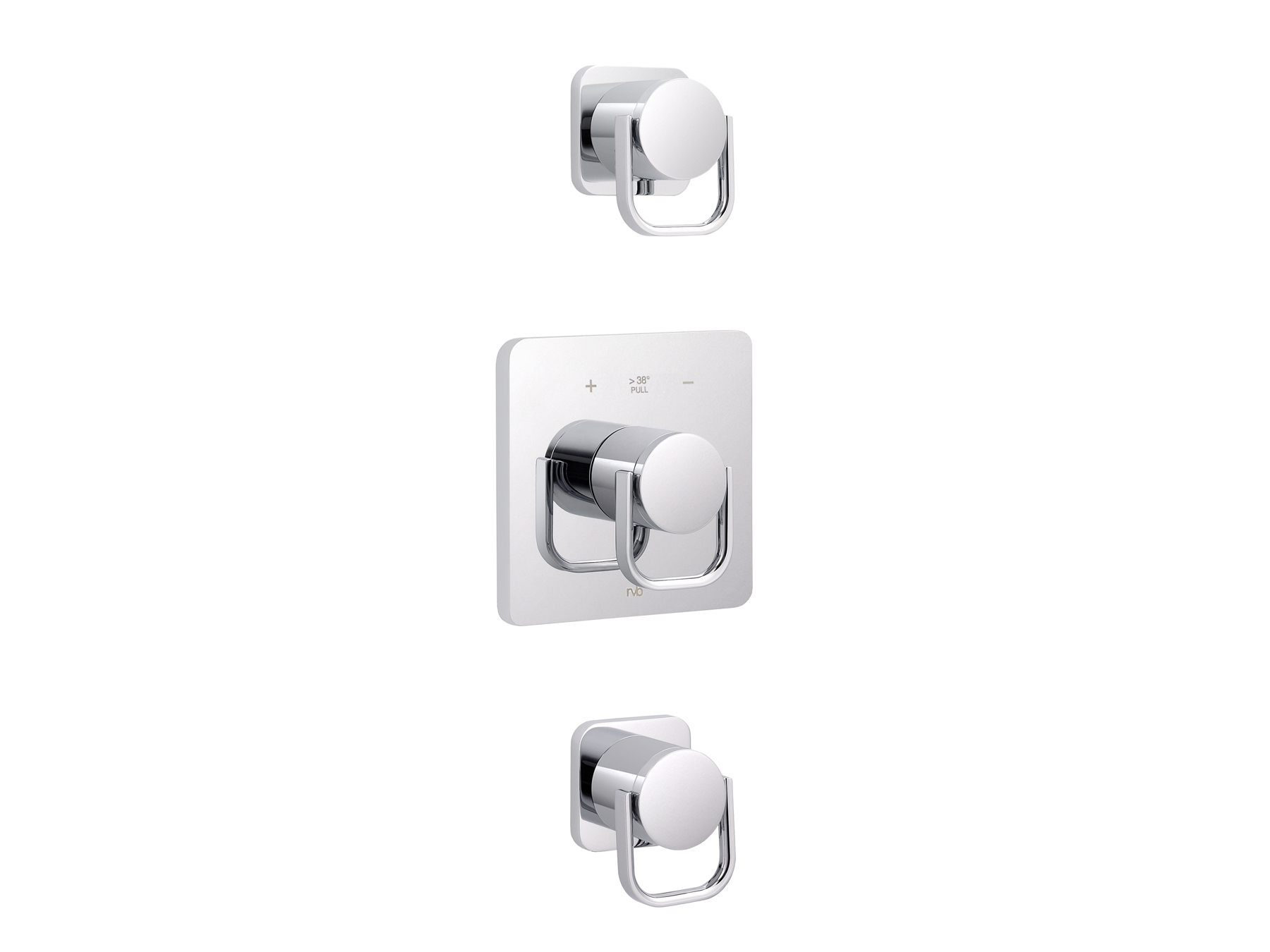 Concealed shower thermostat with 2 valves 4041.--.94