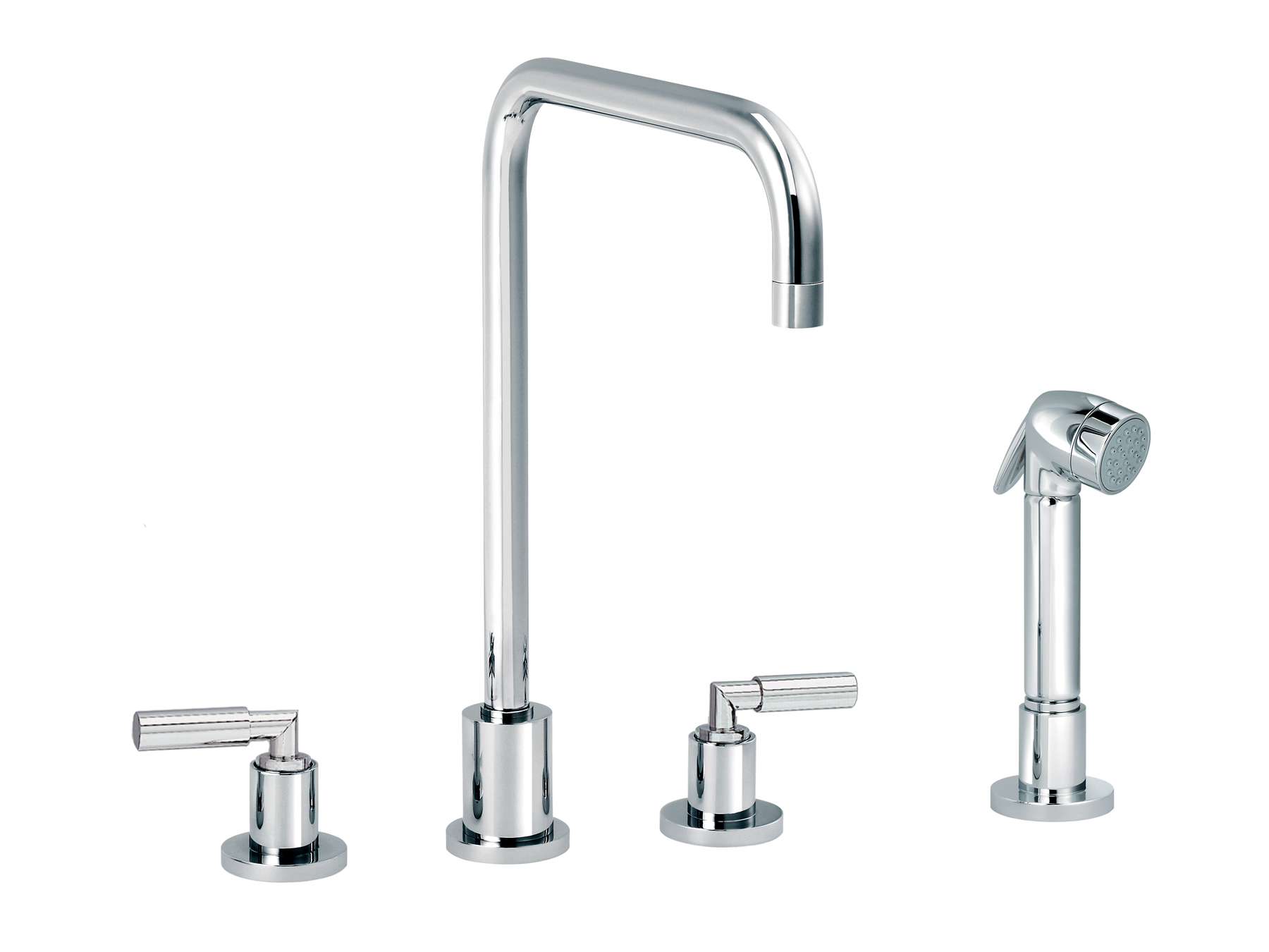 3-hole kitchen mixer, handshower, spout in U 4091.--.29