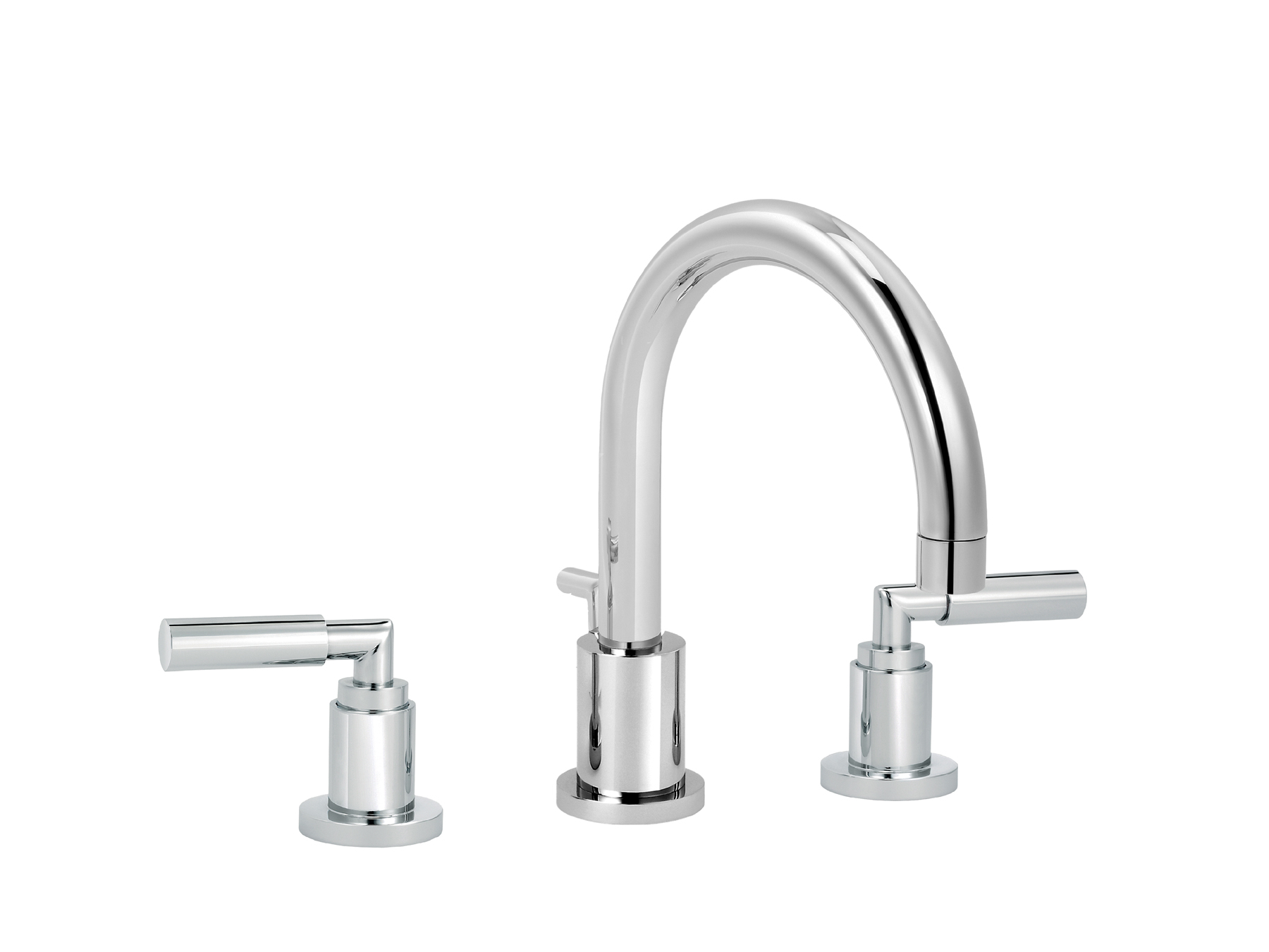 3-hole washbasin mixer, with waste, great spout 4091.--.49