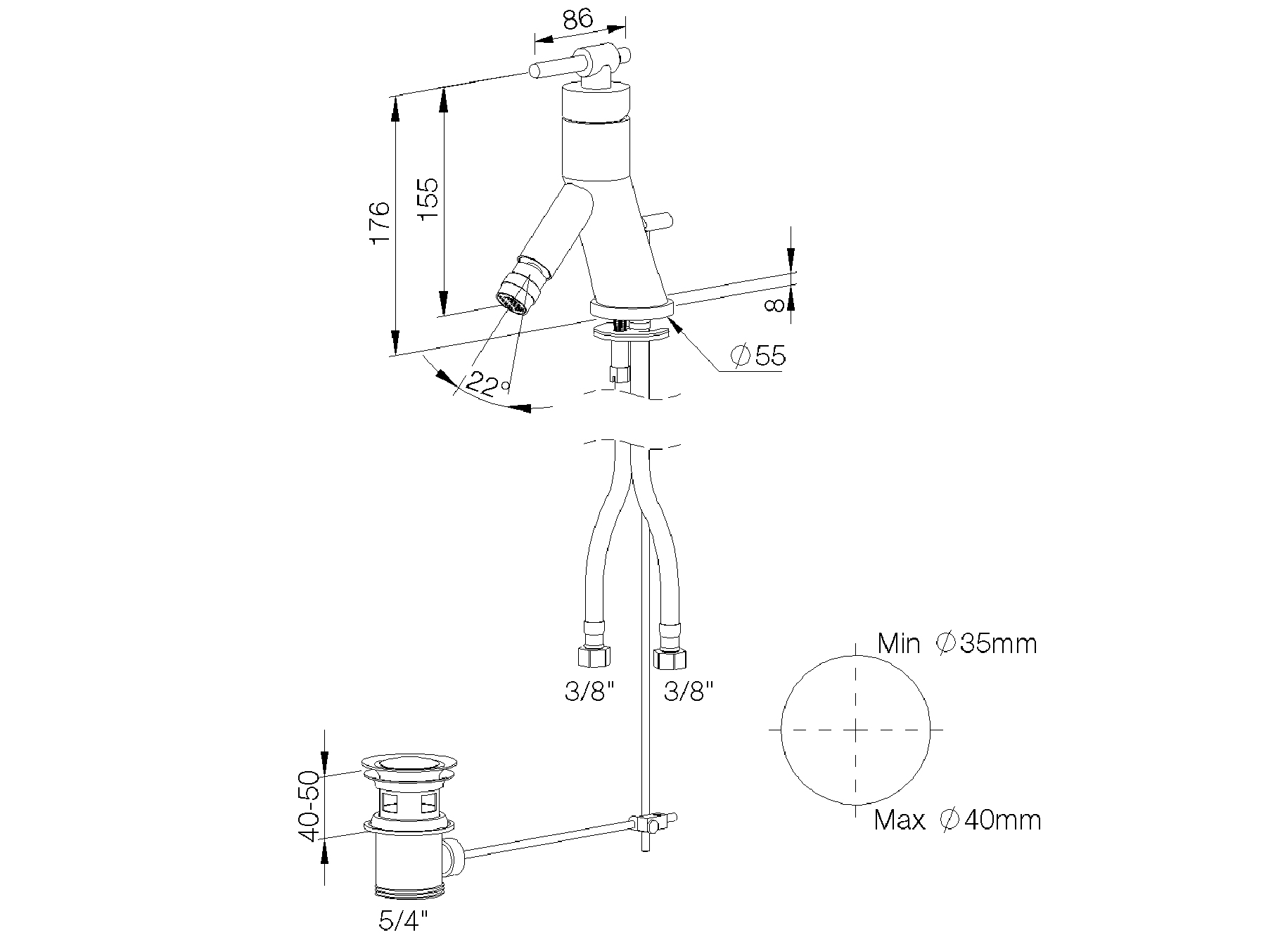 Single-lever bidet mixer 4527.--.20