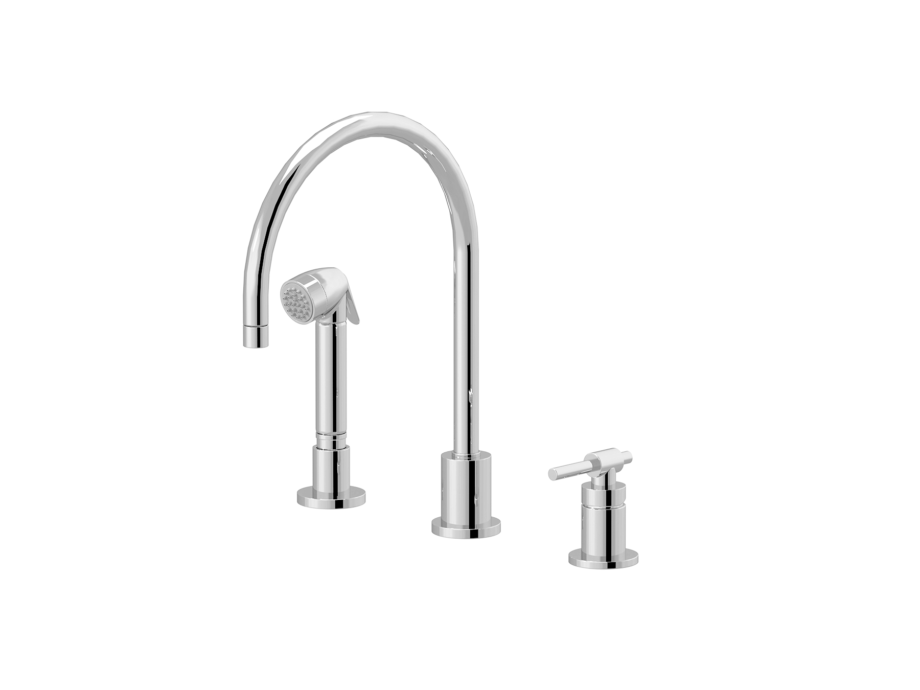 Single-lever kitchen mixer, great spout, handshowe 4527.--.28