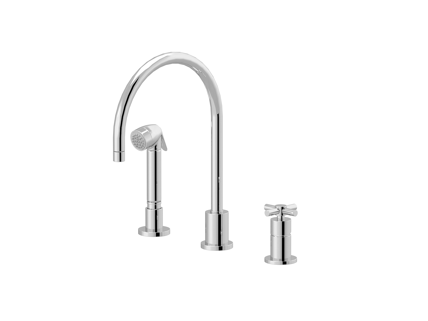 Single-lever kitchen mixer, great spout, handshower 4532.--.28
