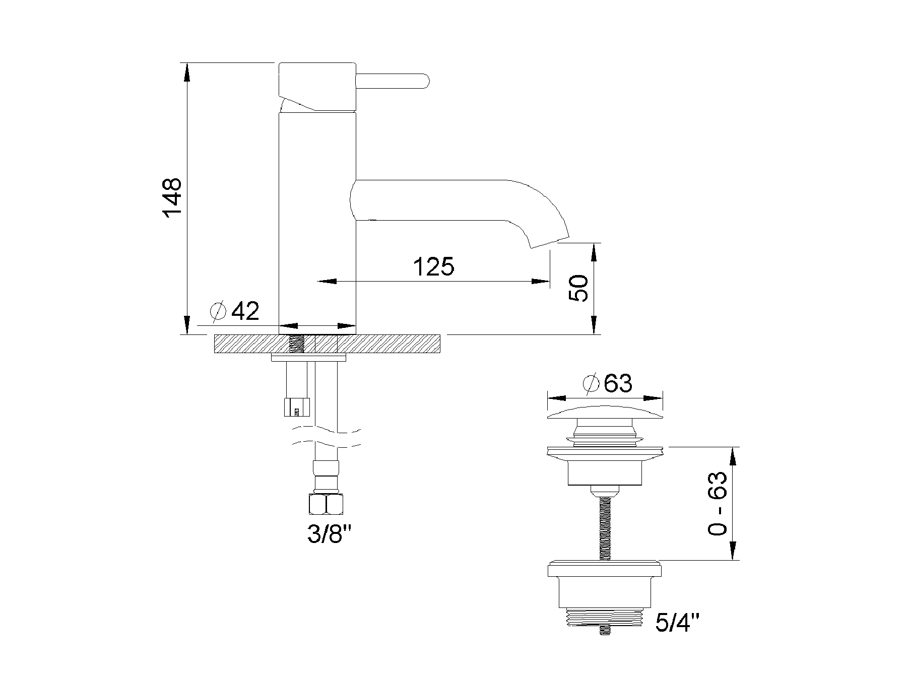 Single-lever washbasin mixer 4570.--.10