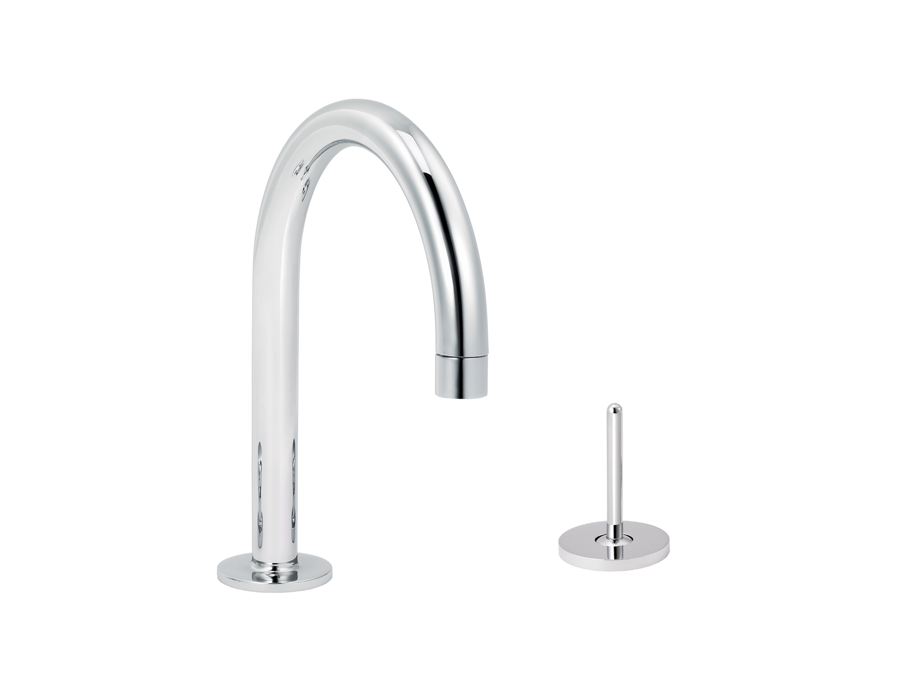 2-hole single-lever washbasin mixer, round spout 4570.--.49