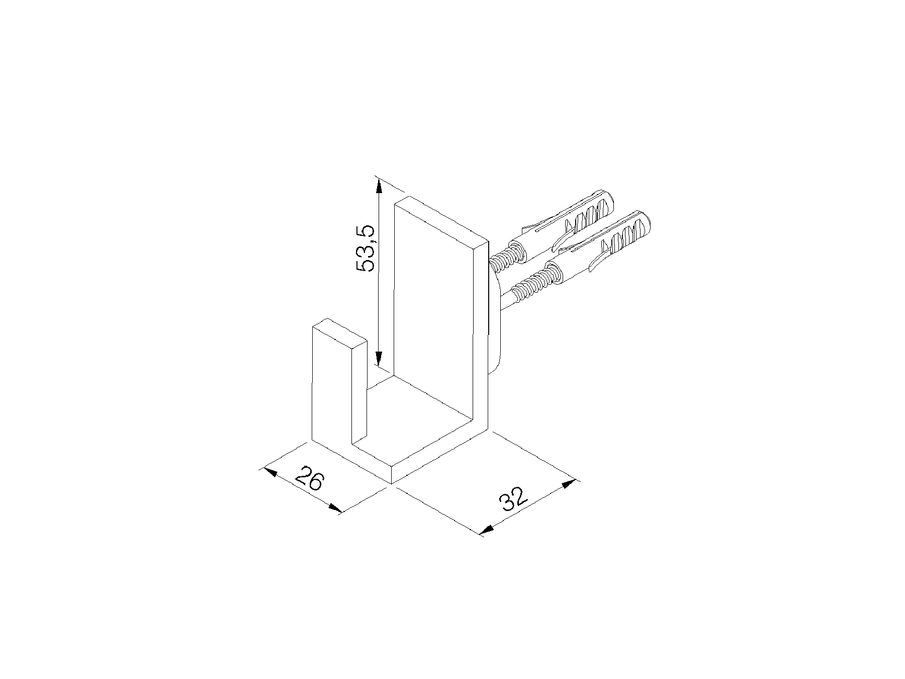 Dressing gown holder 6285.--.53