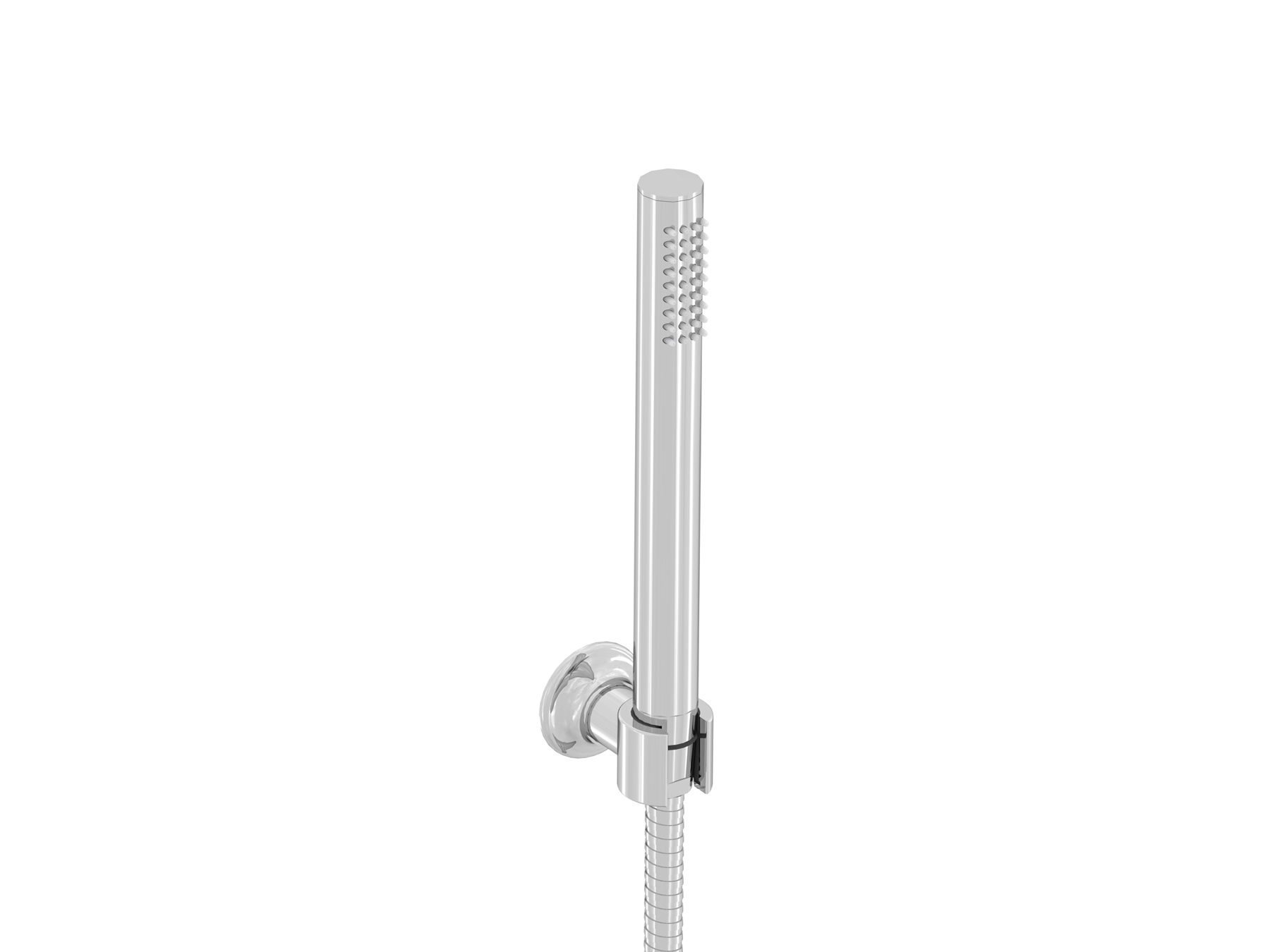 Rim-mounted handshower set
